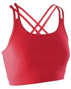 Fitness Womens Crop Top HOT CORAL