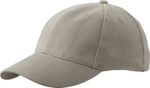 6-Panel Caps besticken - laminiert Beige