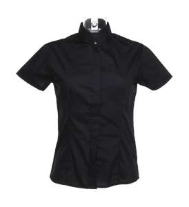 Mandarin Shirt Lady Black