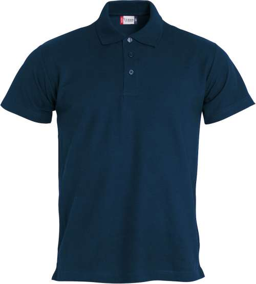 Blaues Poloshirt besticken